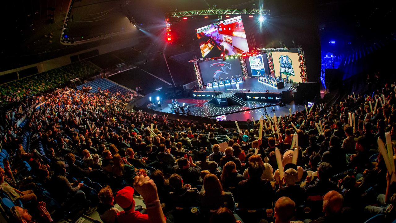 Fans inside Rod Laver Arena for the Overwatch Contenders Australia season 2 finals. Photo: Sarah Cooper