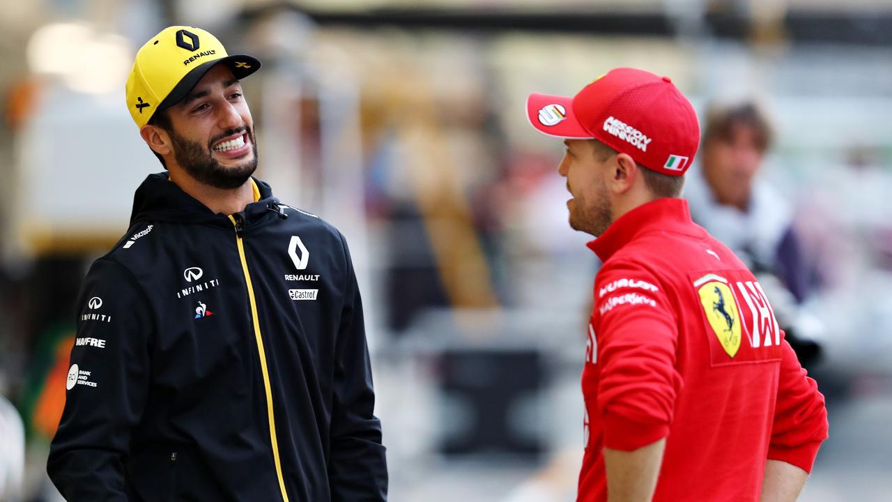 Daniel Ricciardo and Sebastian Vettel were Red Bull teammates in 2014.