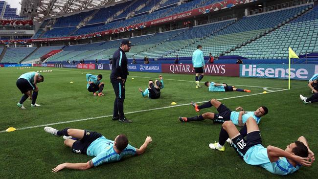 Australia's players attend a training session.