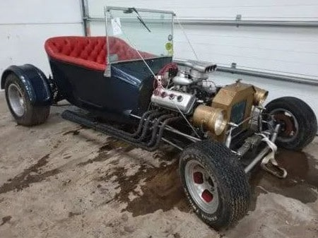 A Ford T-Bucket hot rod.