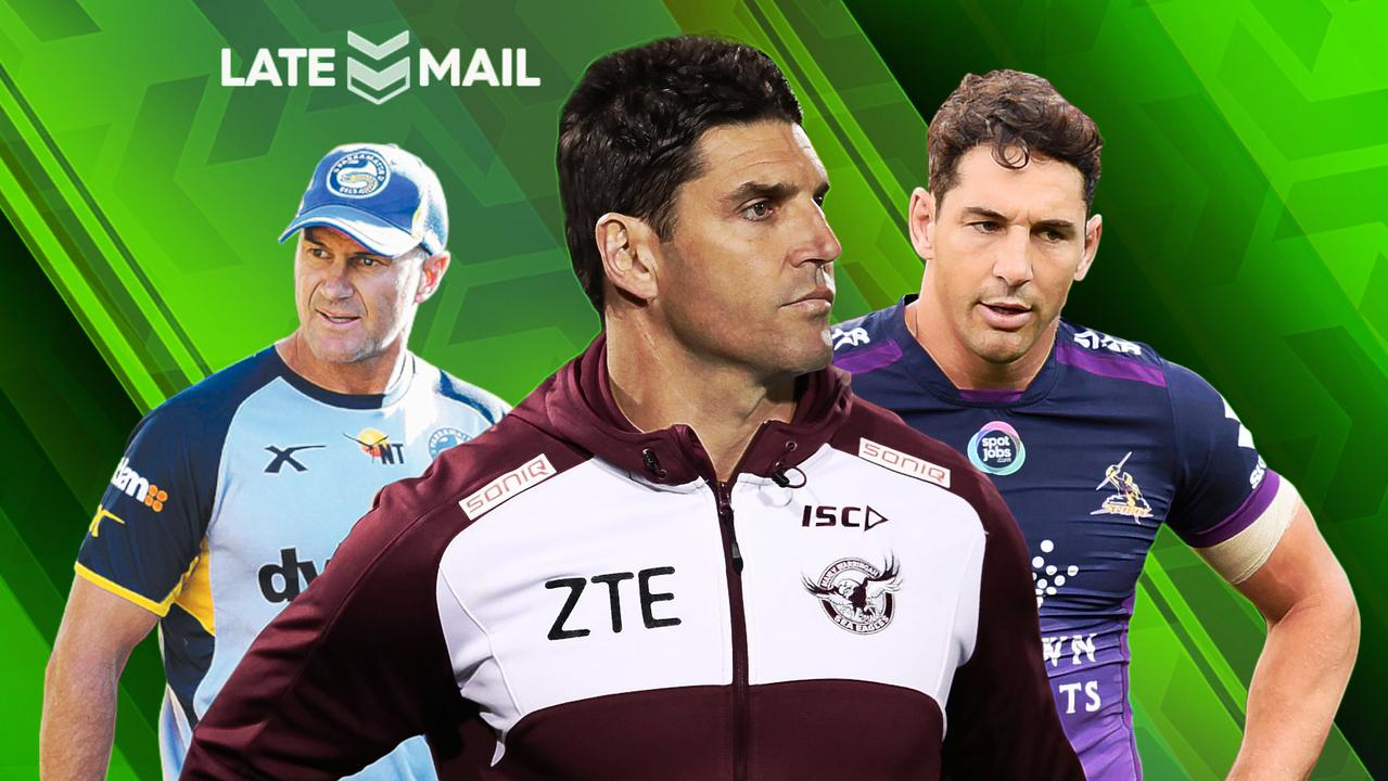 Brad Arthur, Trent Barrett and Billy Slater.