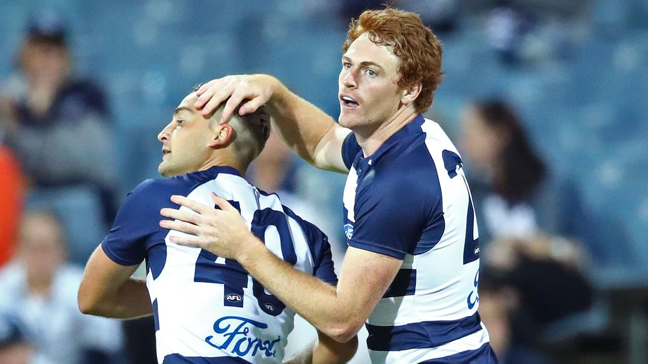 Geelong recruits Gary Rohan and Luke Dahlhaus worked well in tandem during the JLT Series.