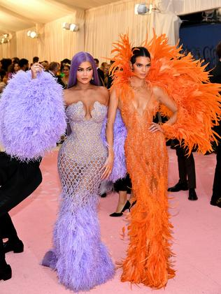 The Jenner sisters absolutely nailed the theme. Picture: Dimitrios Kambouris/Getty Images for The Met Museum/Vogue