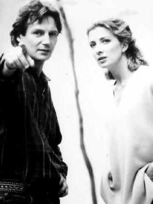 Co-stars ... Liam Neeson and Natasha Richardson in the 1995 film, Nell.