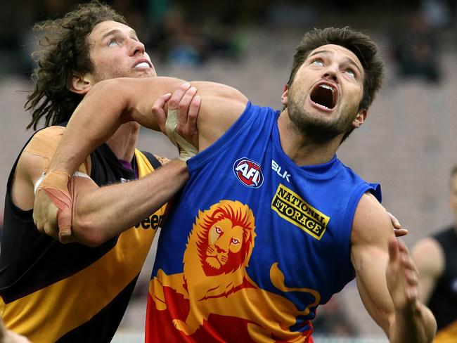 Stefan Martin is thriving as Brisbane's first-choice ruckman. Picture: Wayne Ludbey