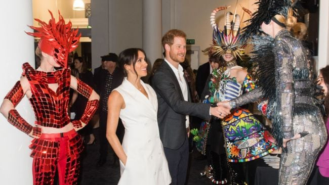 Harry and Meghan made some unusual friends in New Zealand. Source: Getty Images