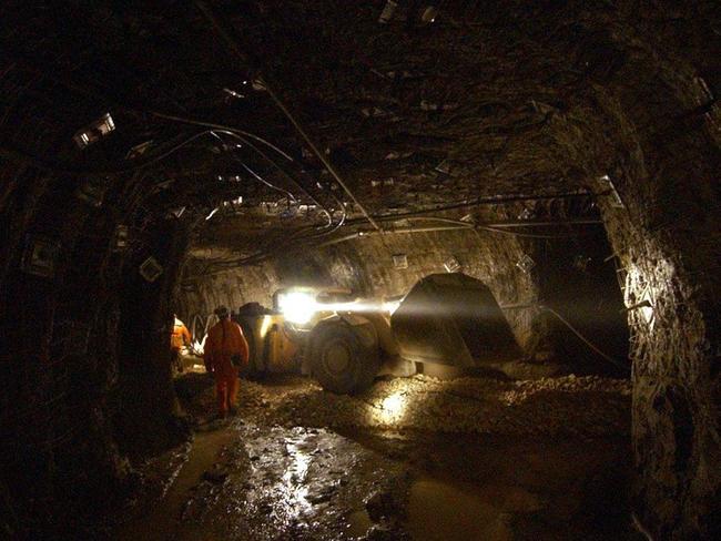 Mining workers spend 12-hour shifts underground. Picture: Scott Radford-Chisholm