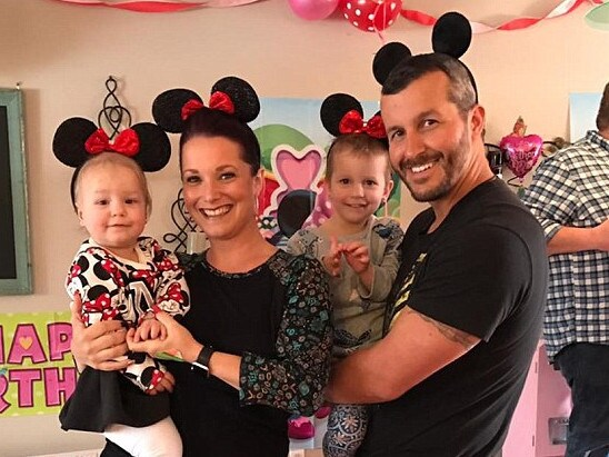 Chris and Shanann Watts with their daughters Celeste and Bella.