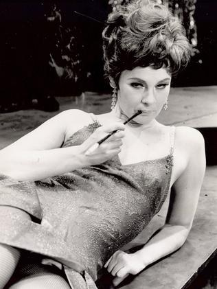Judi Dench as Sally Bowles in the 1968 London production of Cabaret. Picture: Central Press Photo.