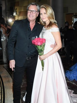 Mr Cook and his daughter, Sailor Brinkley-Cook. Picture: Getty