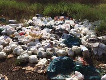 Nappies have also been dumped in bushland and on the side of the road in Australia.