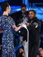Kendrick Lamar and Dave Free accept the Video of the Year award for 'Humble' from Gal Gadot onstage during the 2017 MTV Video Music Awards at The Forum on August 27, 2017 in Inglewood, California. Picture: Getty
