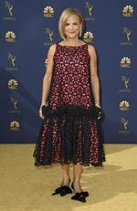 Amy Sedaris arrives at the 70th Primetime Emmy Awards on Monday, Sept. 17, 2018, at the Microsoft Theater in Los Angeles. (Photo by Jordan Strauss/Invision/AP)