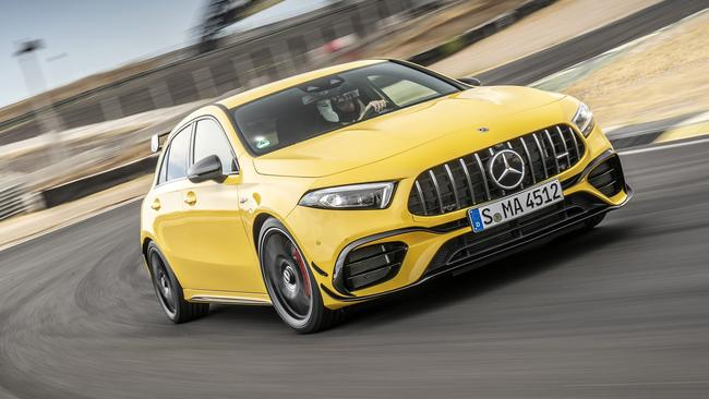 The A45's engine revs up to 7200rpm.