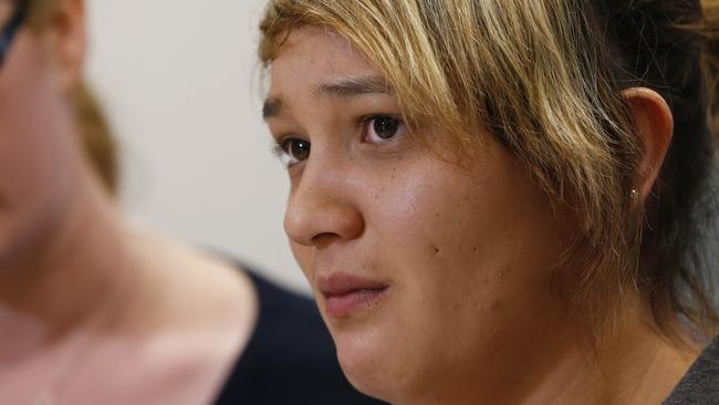 Reza Wright travelled to the Gold Coast in the days after her sister's death, before Tostee was charged, to appeal for information. Picture: Jerad Williams