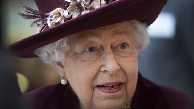 The Queen isn't risking the spread of germs via bare handshakes. Picture: Getty Images.