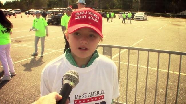 This little girl had some strong views about Hillary Clinton.