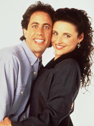 Jerry Seinfeld with Julia Louis-Dreyfus.