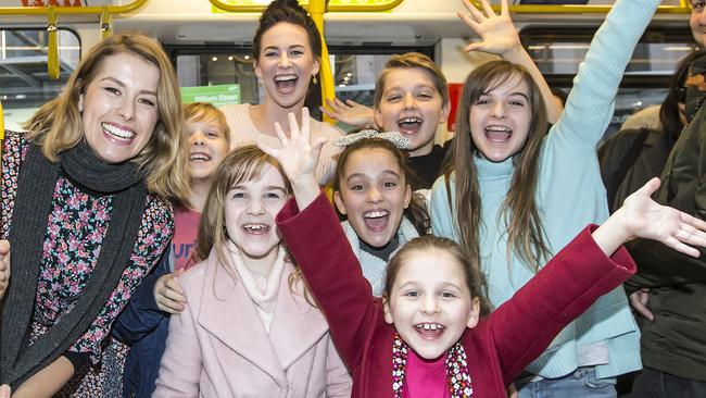 Tram passengers treated to The Sound of Music flash singing