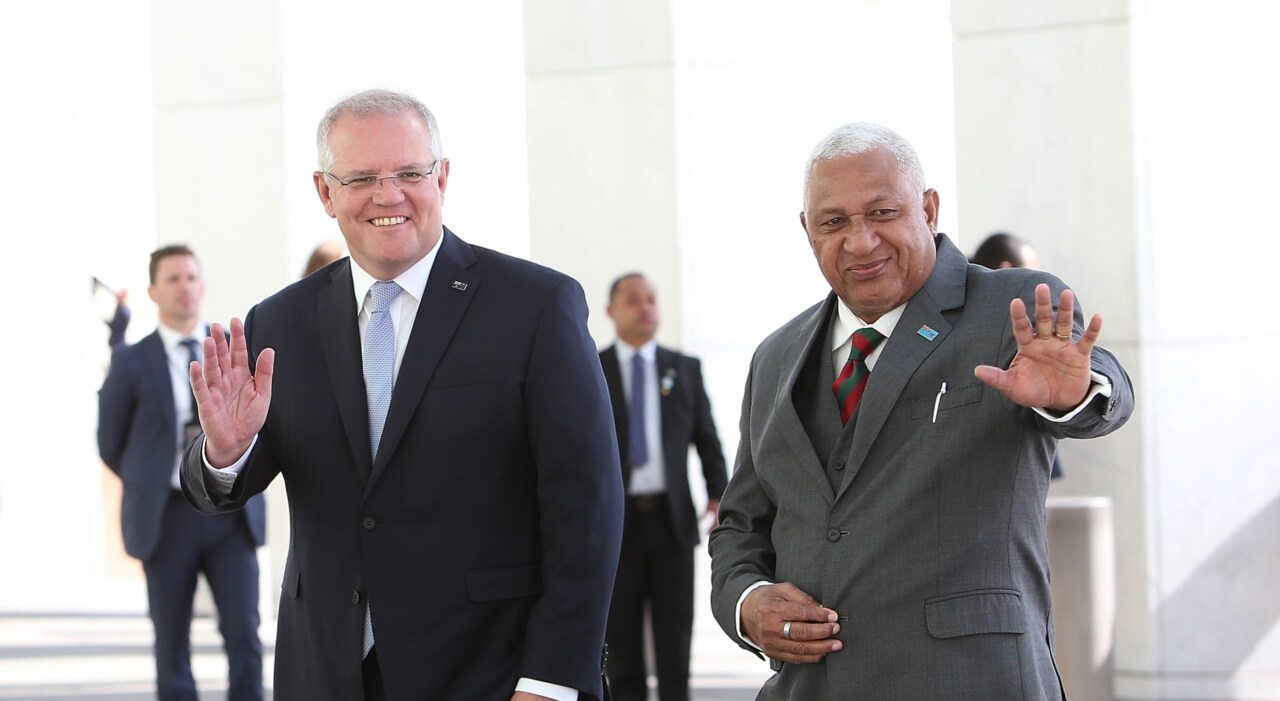 Morrison in Fiji for footy and official talks