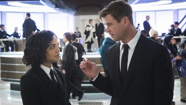Hemsworth stars alongside Tessa Thompson in the new MIB movie.