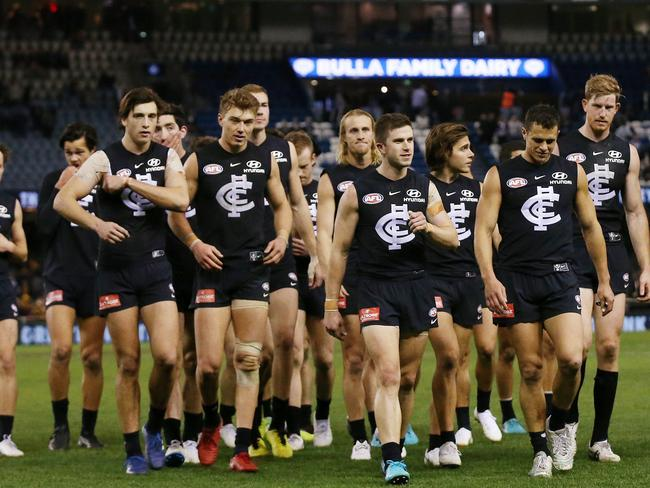 Carlton has been punished for its poor 2018.