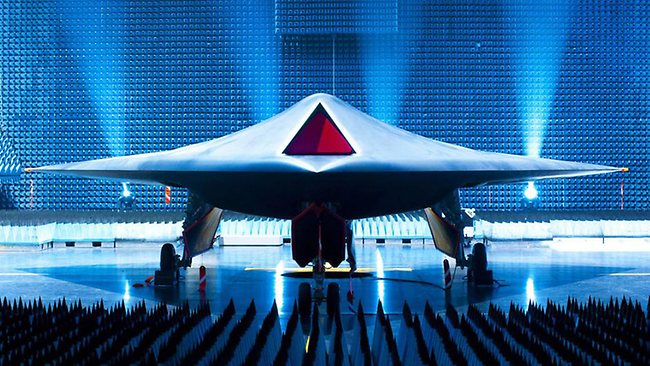 Top Secret sites: British stealth drone bomber Taranis, undergoing testing in the Australian outback in early-2013. Photo: BAE