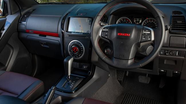The D-Max interior feels dated.