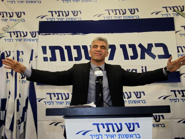 Yair Lapid, of the opposition party, withdrew support of a controversial military bill, triggering the collapse of the coalition. Picture: AP Photo/Sebastian Scheiner