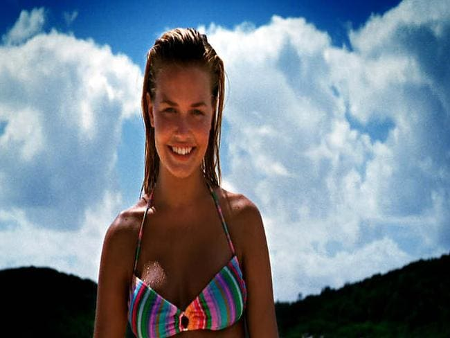 Model Lara Bingle in a still from the 2006 'Where the bloody hell are ya?' Tourism Australia advertisement.