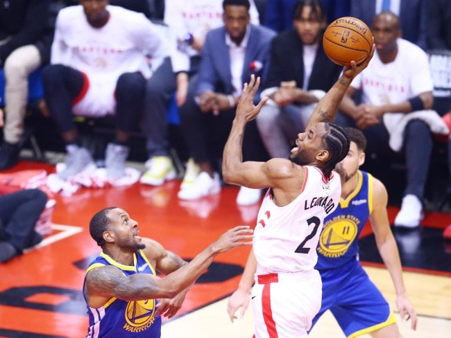 Kawhi Leonard produced a powerhouse performance for the Raptors. Picture: Getty