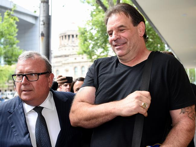 John Setka leaves Melbourne Magistrates court, where he faced assault charges. Picture: Nicole Garmston