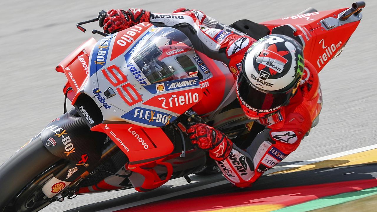 German MotoGP 2018 practice: Jorge Lorenzo tops practice at Sachsenring | Fox Sports