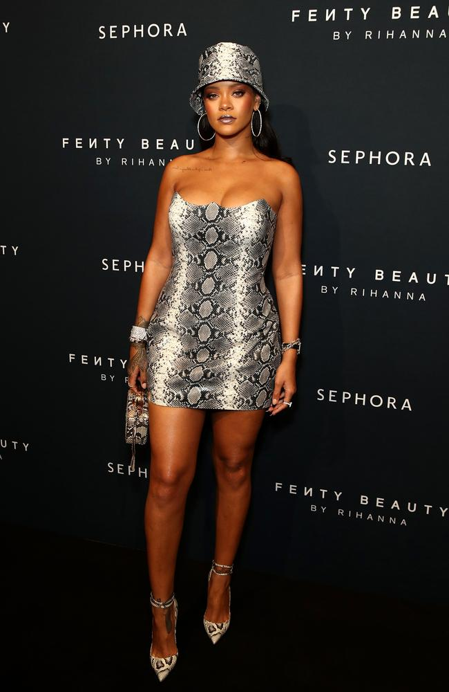 She visited Sydney last year for her hugely successful makeup line, Fenty Beauty, stocked at Sephora. Picture: Getty Images