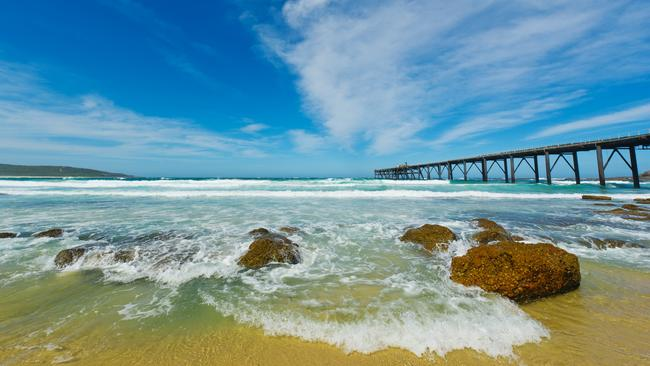 Catherine Hill Bay is great for snorkelling and diving — especially around the local shipwrecks which are teeming with marine life. Picture: Istock