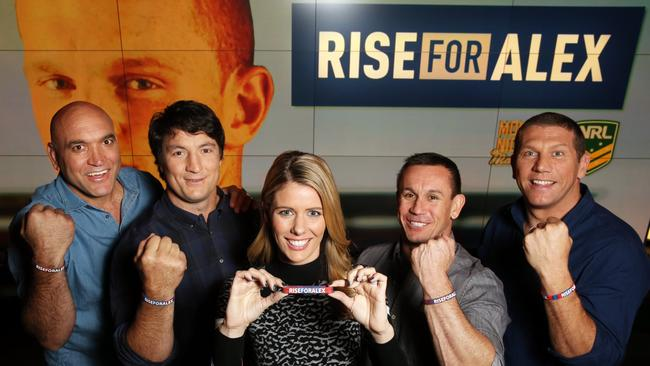 Monday Night with Matty Johns crew with Rise for Alex wrist bands.