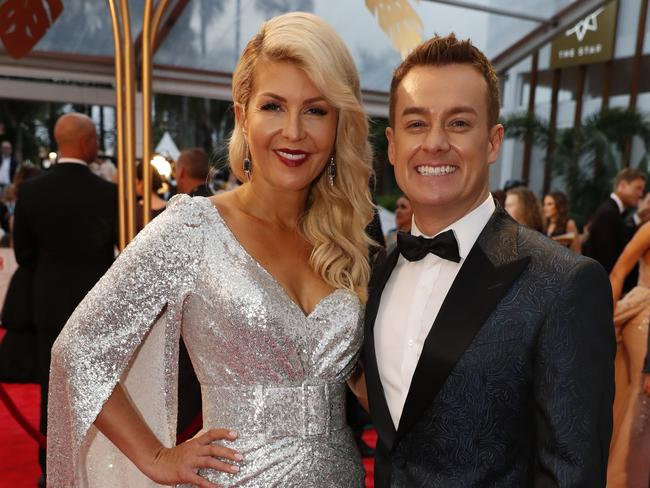Grant Denyer and his wife Cheryl Denyer at the 2018 Logie Awards.