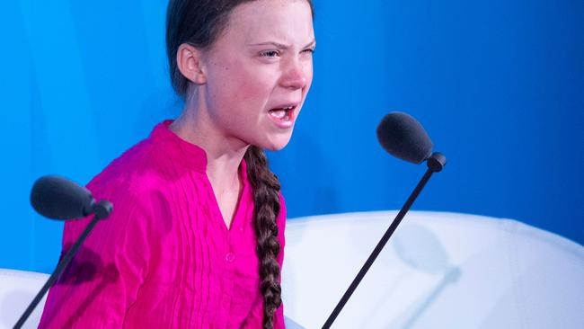 Greta Thunberg delivered a passionate address at the United Nations last month. Picture: Johannes Eisele/AFP
