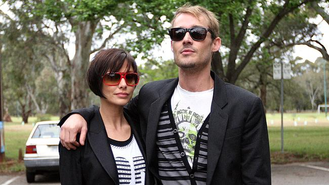 Natalie Imbruglia with ex-husband Daniel Johns in 2007.