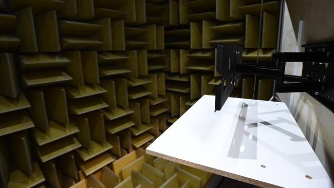 TV testing ... The anechoic chamber inside Samsung's US Audio Lab is designed specifically for TV audio testing.