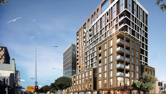 Franze Developments, Geelong Quarter. External renders of the development at 44 Ryrie St, Geelong.
