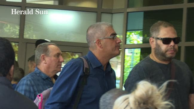Bill Vlahos arrives at the Melbourne Magistrates Court