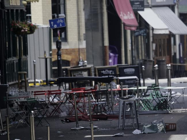 The scene has been virtually untouched since Saturday night. Picture: AP Photo/Markus Schreiber