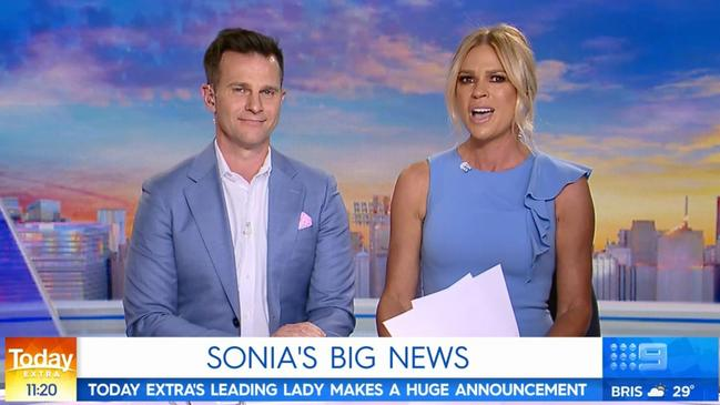Kruger announcing on-air her departure from the Today Show on November 14. Picture: Today Extra