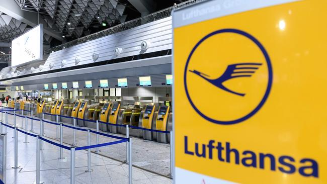 Lufthansa will reduce its economy class food service on long haul flights later this month. Picture: Silas Stein/AFP