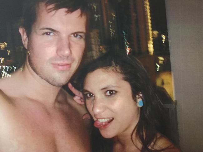 Warriena Wright in a selfie with Tostee at his Surfers Paradise apartment where he boasted he had taken home many girls.