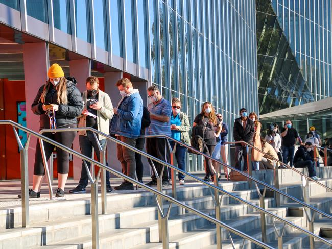There was a rush to get vaccinated in Melbourne during its two-week lockdown.