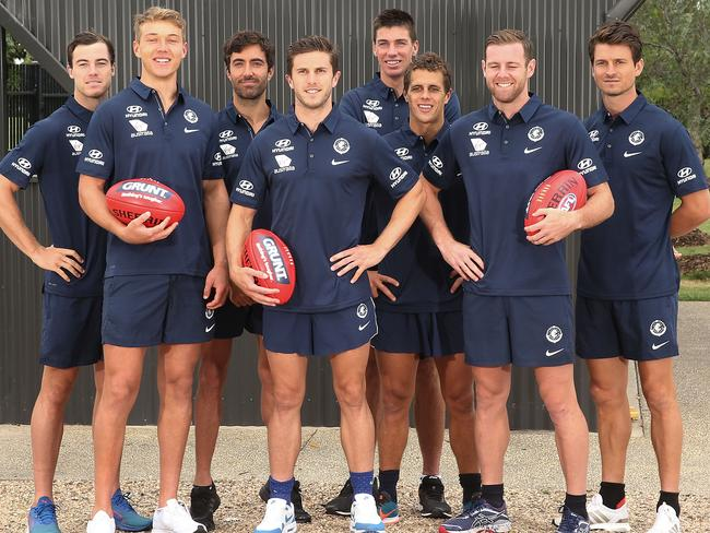 Carlton's eight-man leadership group.