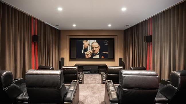 The home cinema is a highlight.