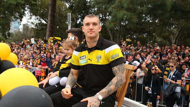 Dustin Martin at the GF parade.